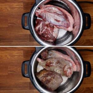 brown beef in Instant Pot