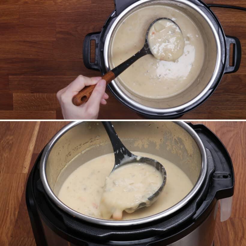 Muschelsuppe im Instant Pot