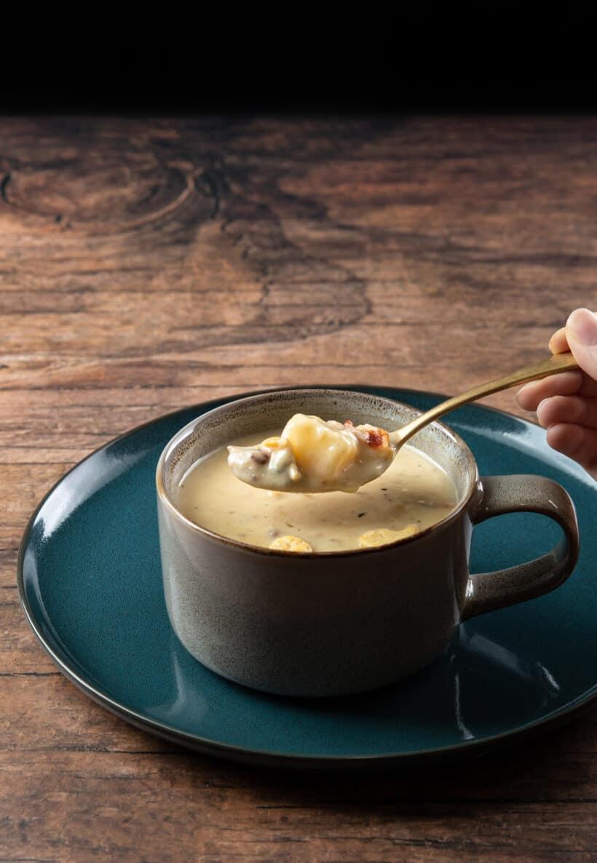 Instant-Topfmuschelsuppe |  Muschelsuppe Instant Pot |  Instant Pot New England Muschelsuppe |  Schnellkochtopf Muschelsuppe #AmyJacky #InstantPot #Rezept #Suppe
