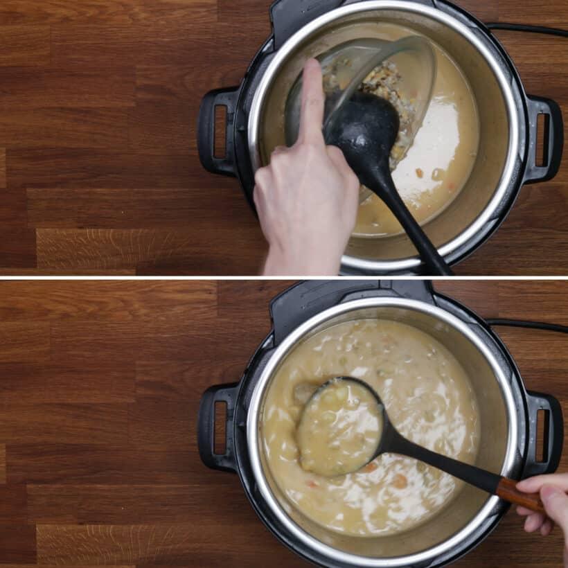 Muschelsuppe machen