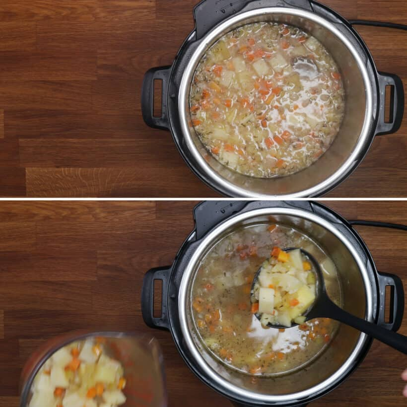 druckgekochte Suppenbasis