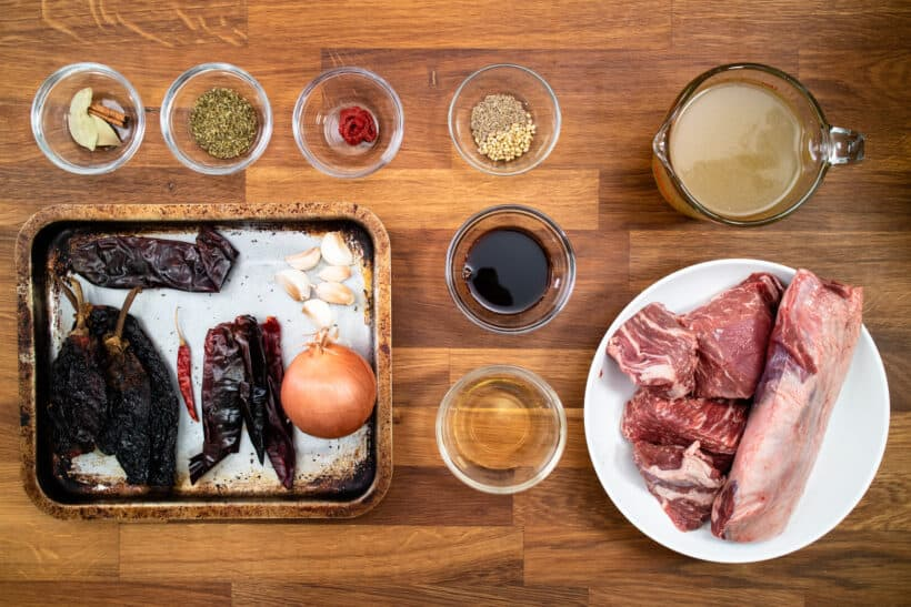 birria ingredients