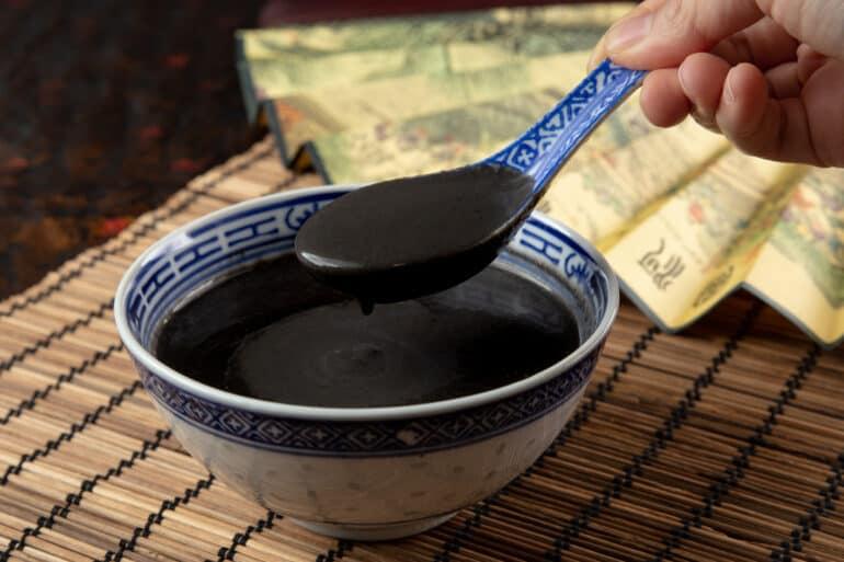 black sesame soup | black sesame soup recipe | 芝麻糊 | instant pot black sesame soup | chinese dessert | dessert recipes #AmyJacky #recipe #chinese #asian