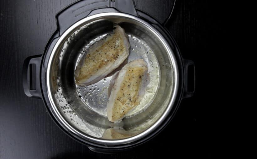brown chicken breasts instant pot