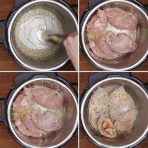 brown chicken instant pot