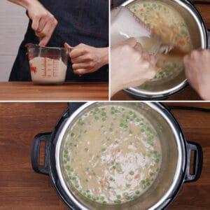 chicken pot pie in Instant Pot