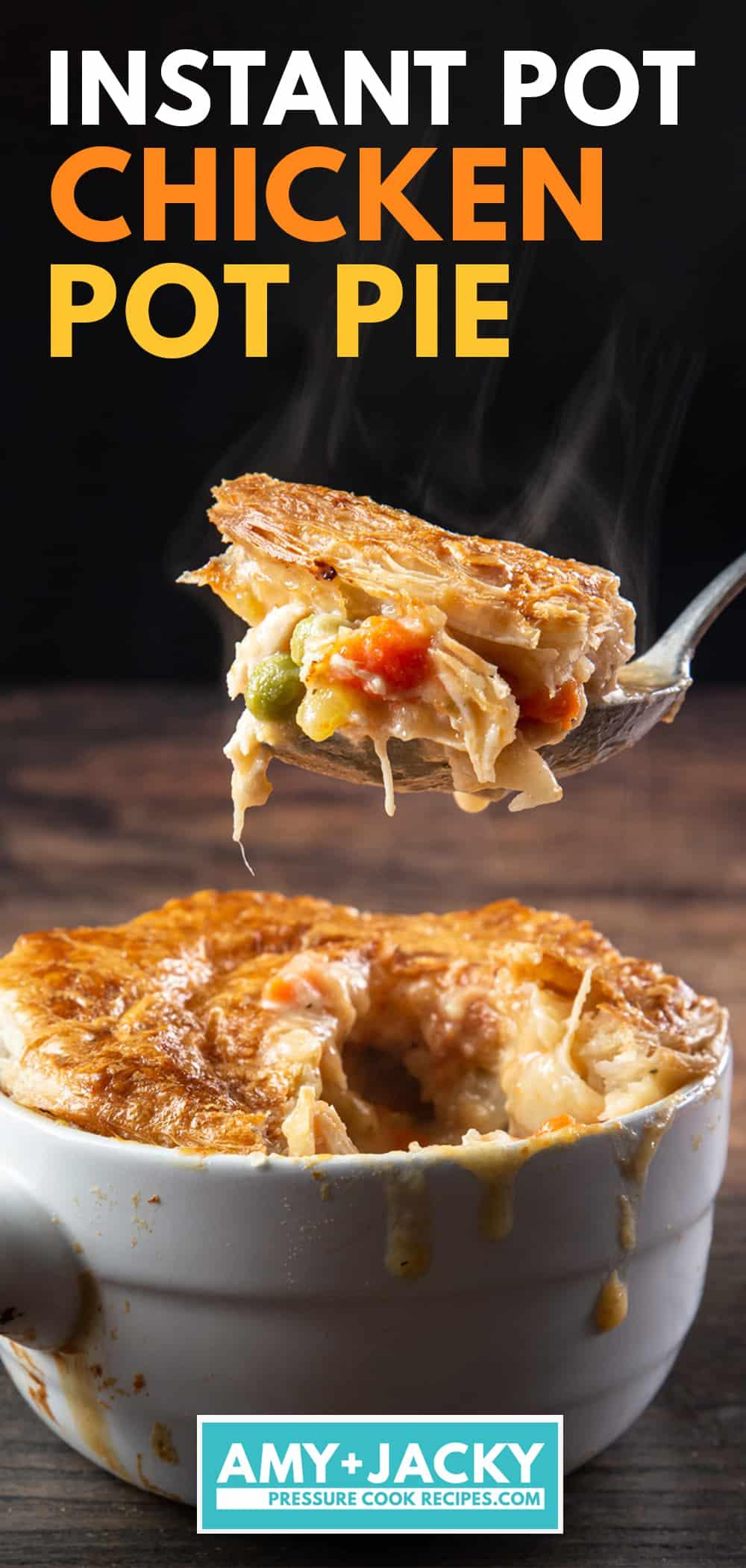 Instant Pot Chicken Pot Pie | chicken pot pie instant pot | homemade chicken pot pie | easy chicken pot pie | pressure cooker chicken pot pie #AmyJacky #InstantPot #chicken #recipe #pie