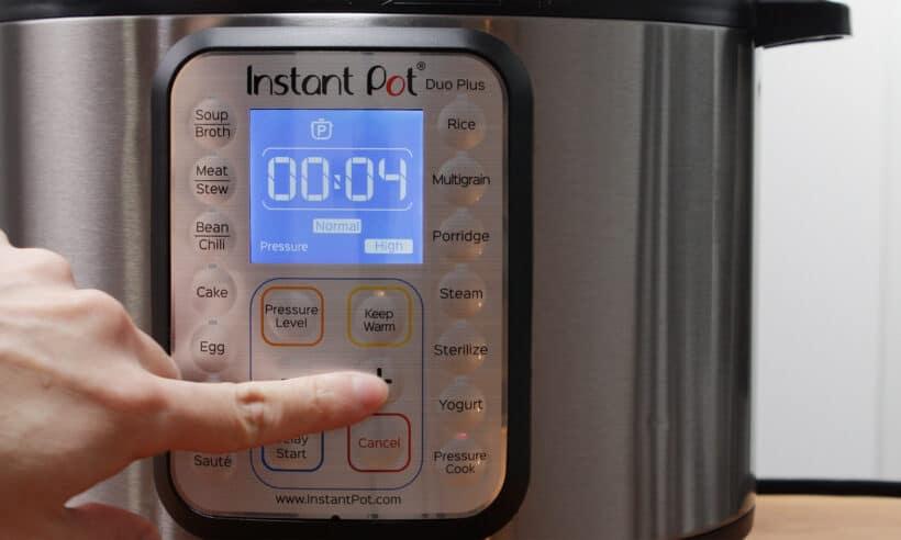 instant pot high pressure 4 minutes