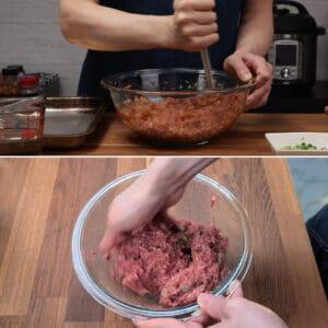 mix ground beef