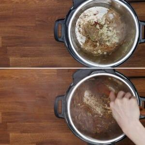 saute garlic