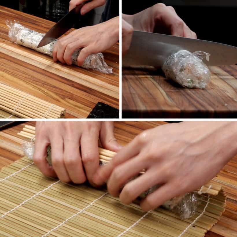 how to cut sushi rolls