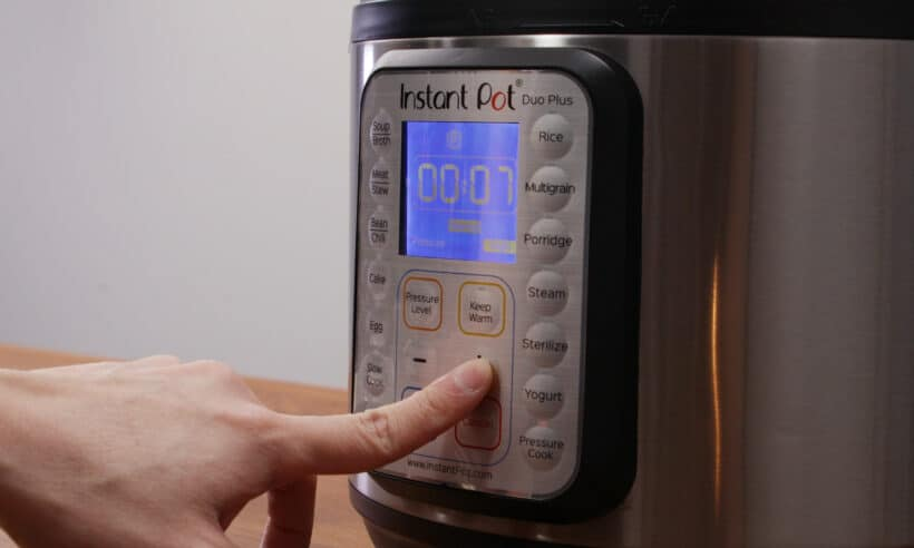 instant pot high pressure for 7 minutes