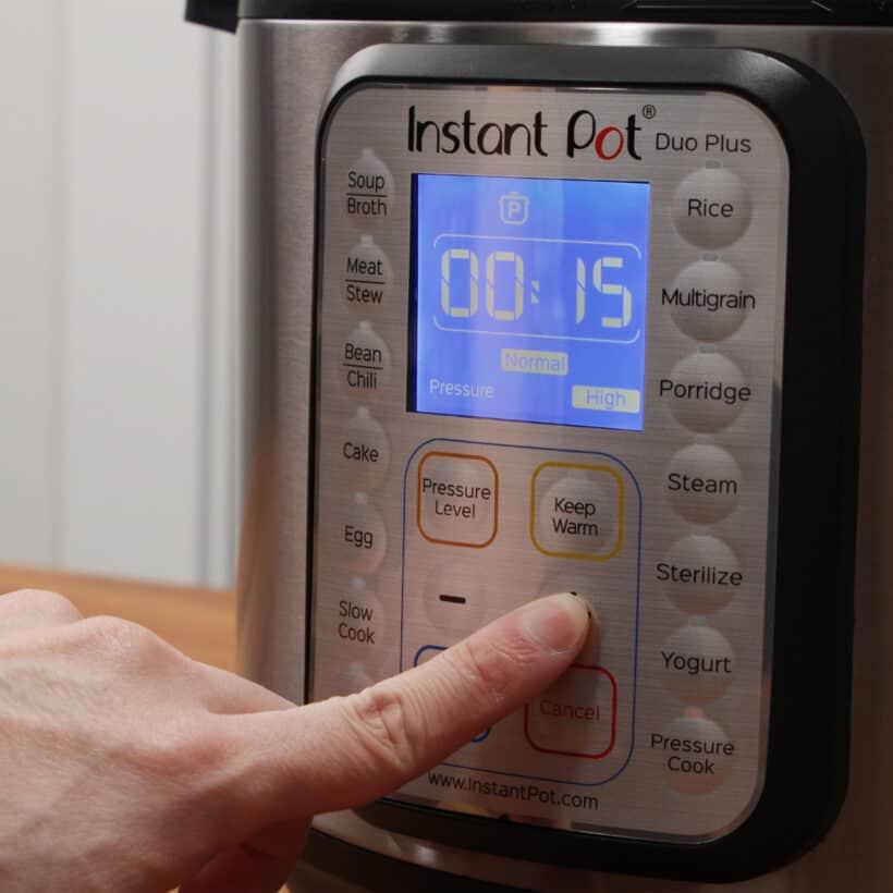 instant pot high pressure 15 minutes
