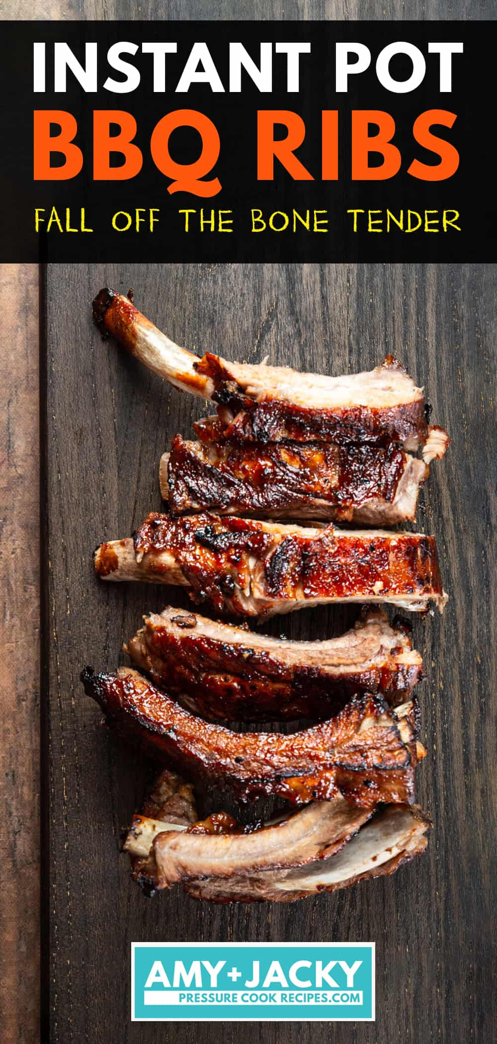 Instant Pot Ribs: Make BBQ Ribs in Instant Pot in 40 minutes! Deliciously tender & juicy BBQ Ribs are great beginner recipe for weeknight dinners or BBQ party.
