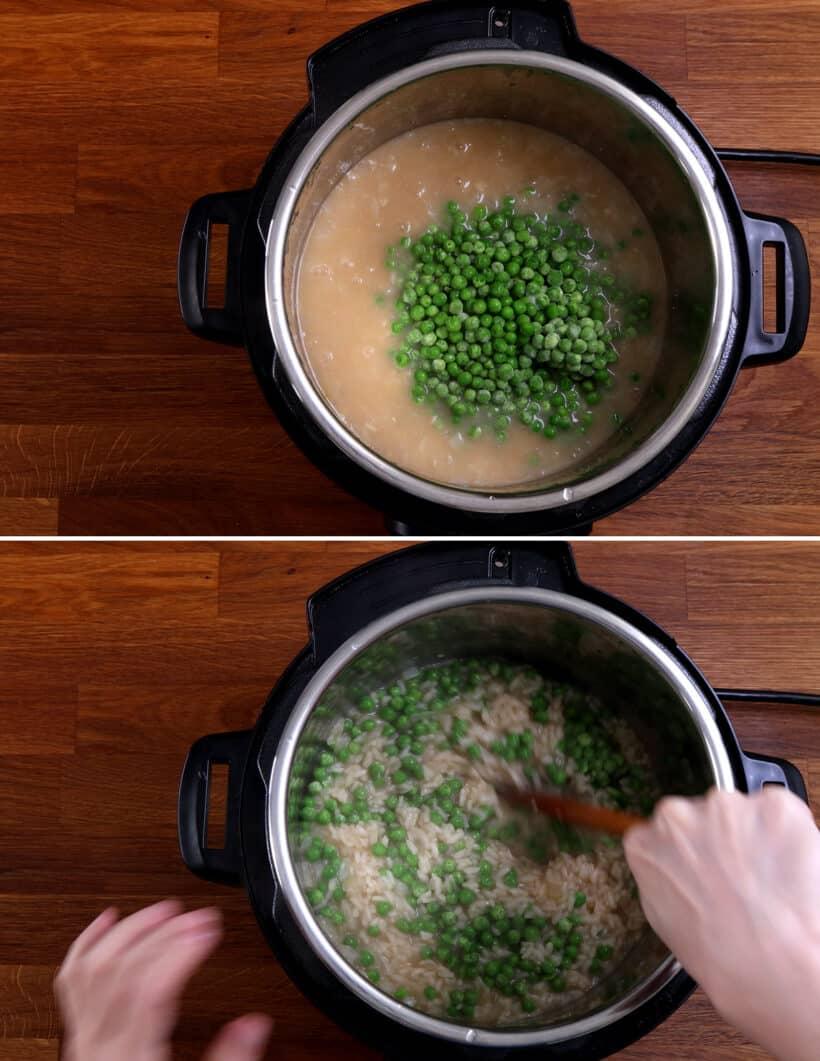risotto peas