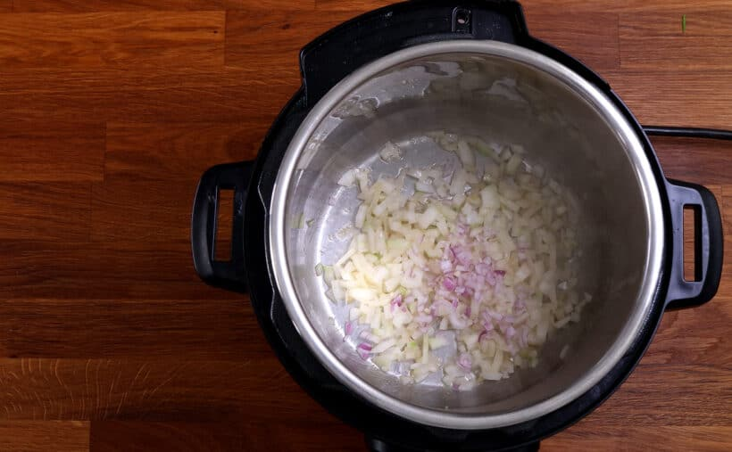 saute onions