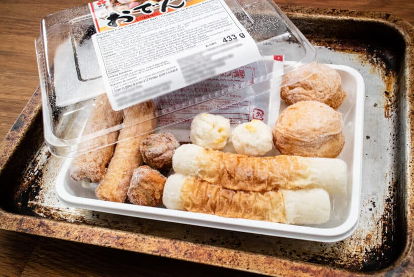 fish cakes oden set