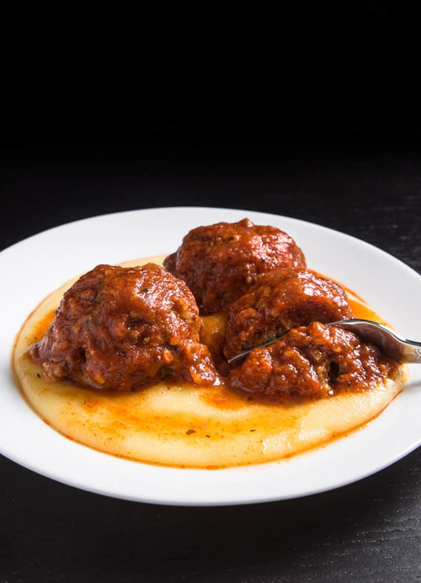 meatballs polenta