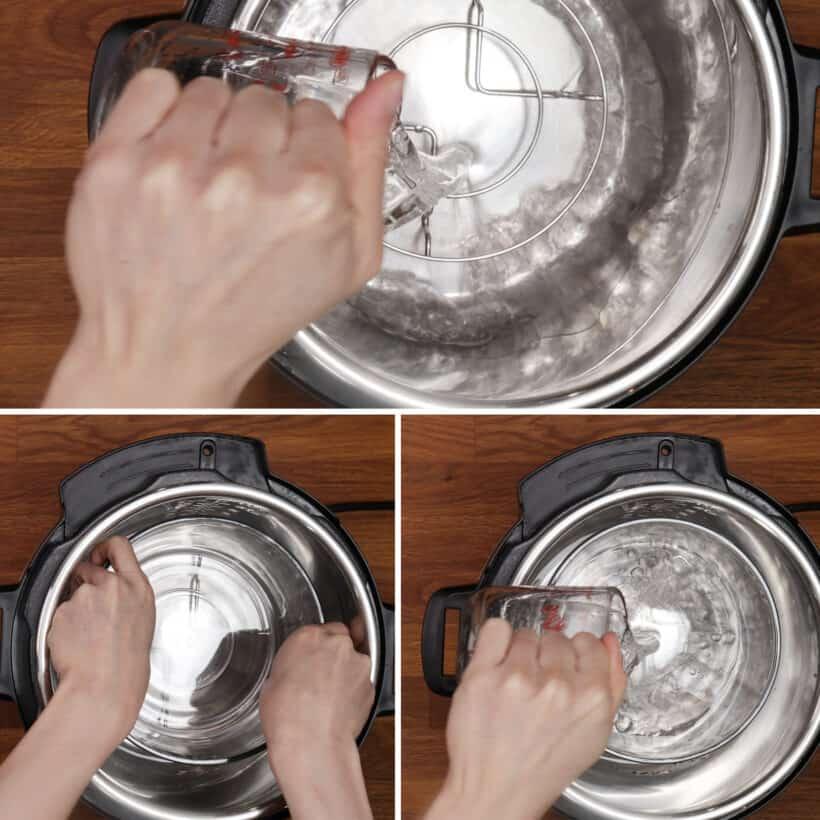 water in instant pot
