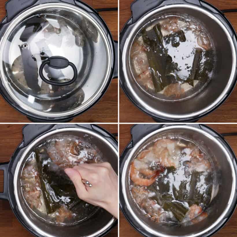 cook shrimp in dashi