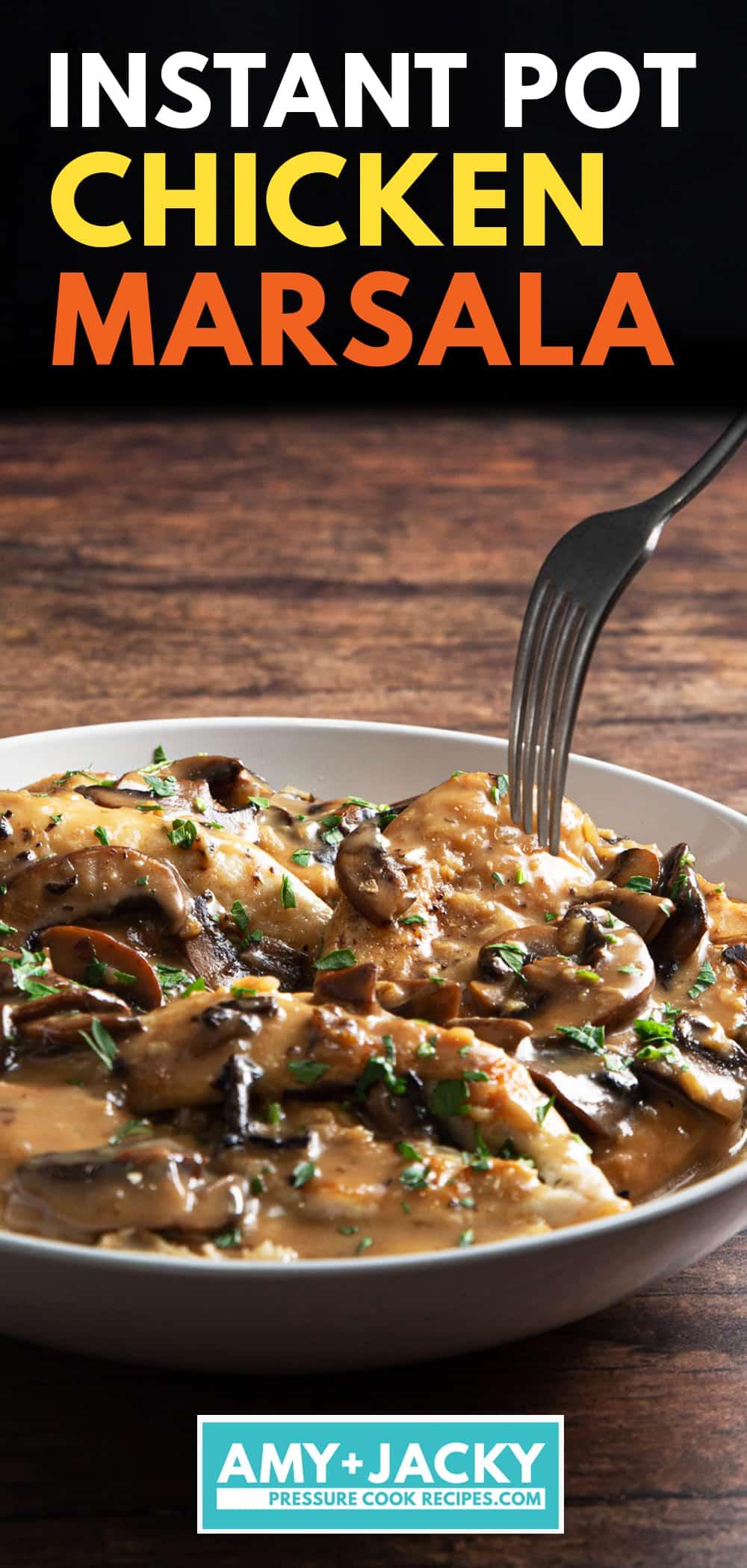 instant pot chicken marsala | chicken marsala instant pot | pressure cooker chicken marsala