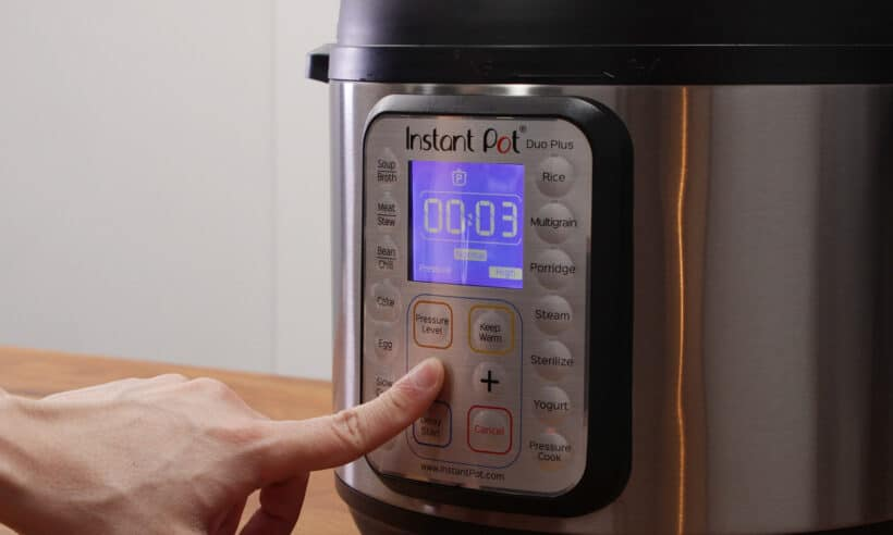 instant pot high pressure 3 minutes