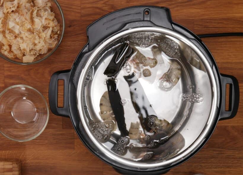 make dashi with shrimp