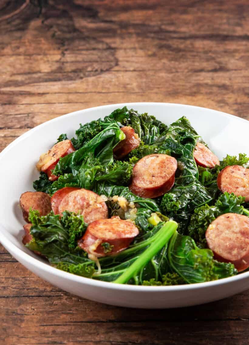 instant pot kale sausage