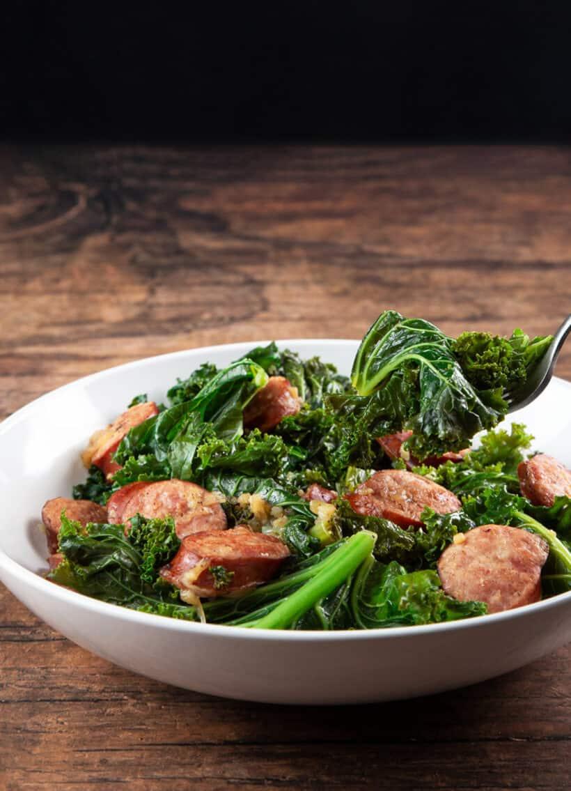 instant pot kale | kale instant pot | instant pot kale sausage | pressure cooker kale