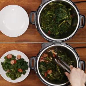 pressure cooker kale