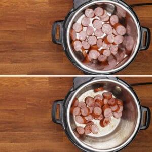 saute sausages