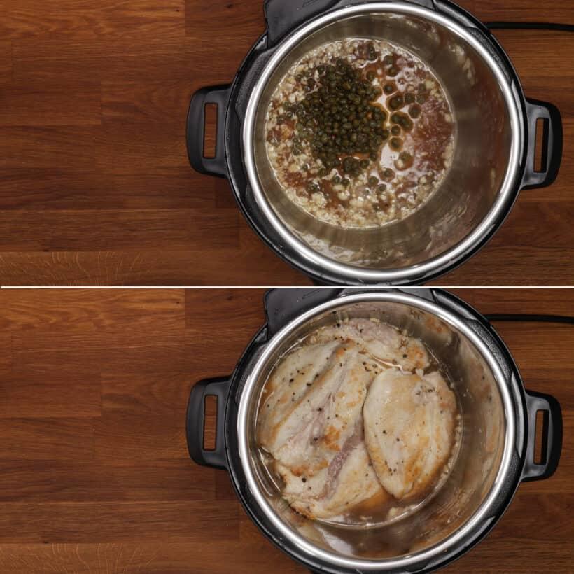 chicken piccata in Instant Pot