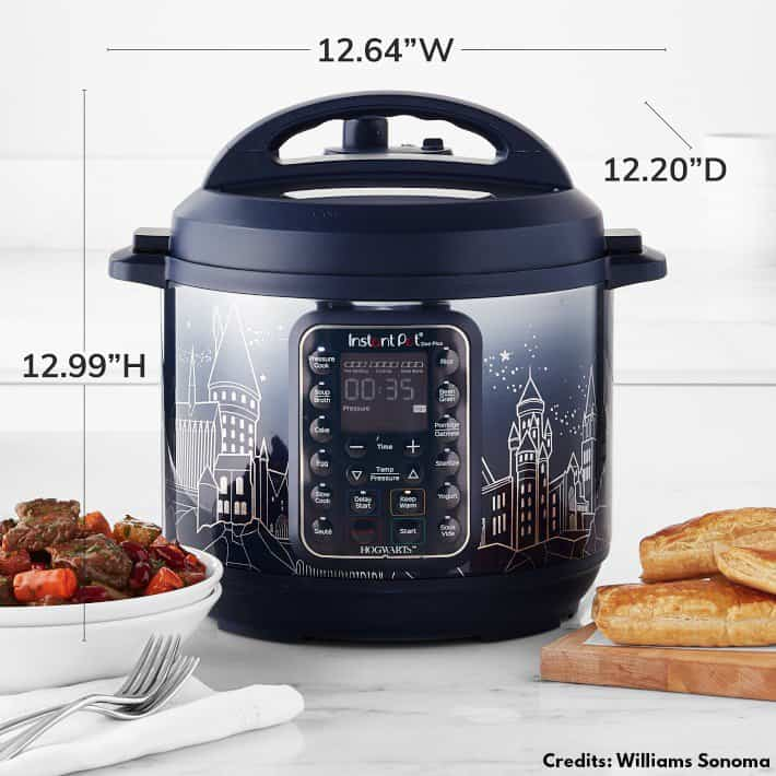 size of the harry potter instant pot